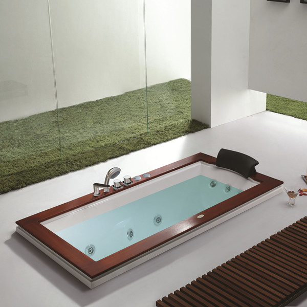 drop-in bathtub indoor
