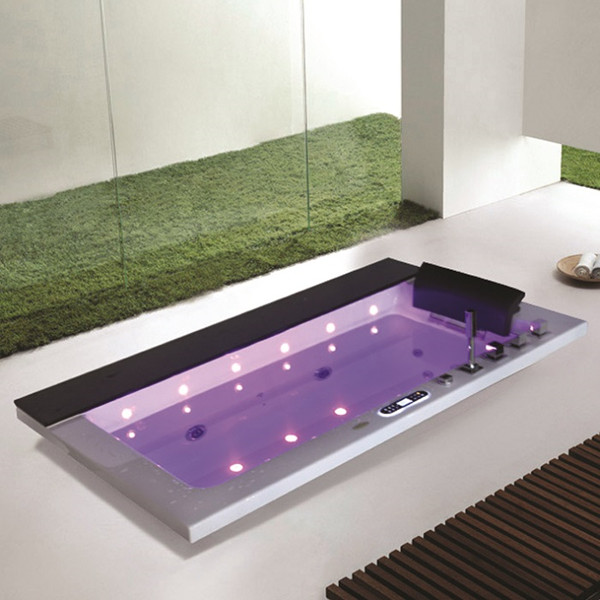 Indoor massage whirlpool with LED waterfall