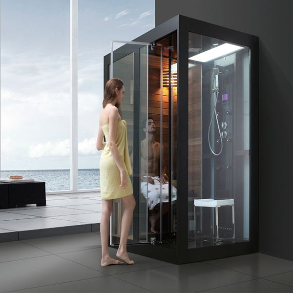 Luxury Design Indoor Sauna And Steam Combined Room For Two Person