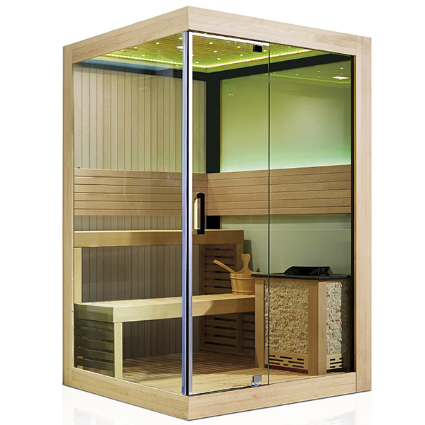 Double Use Cedar Sauna House With Tempered Glass Door